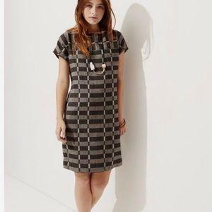 Lou & Grey Plaid Black Alameda Shift Dress